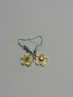 Boucles d'oreilles fleur jaune