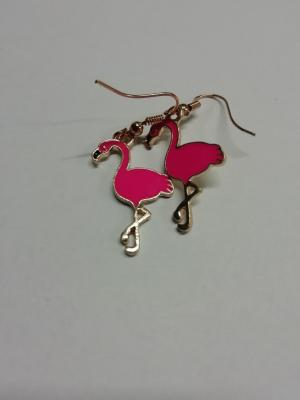 Boucles d'oreilles flamand rose