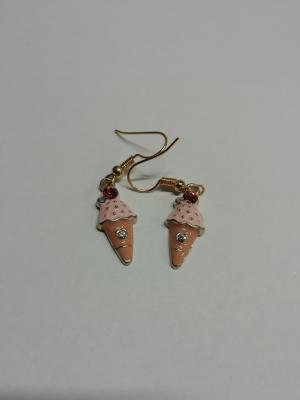 Boucles d'oreilles cornet de glace