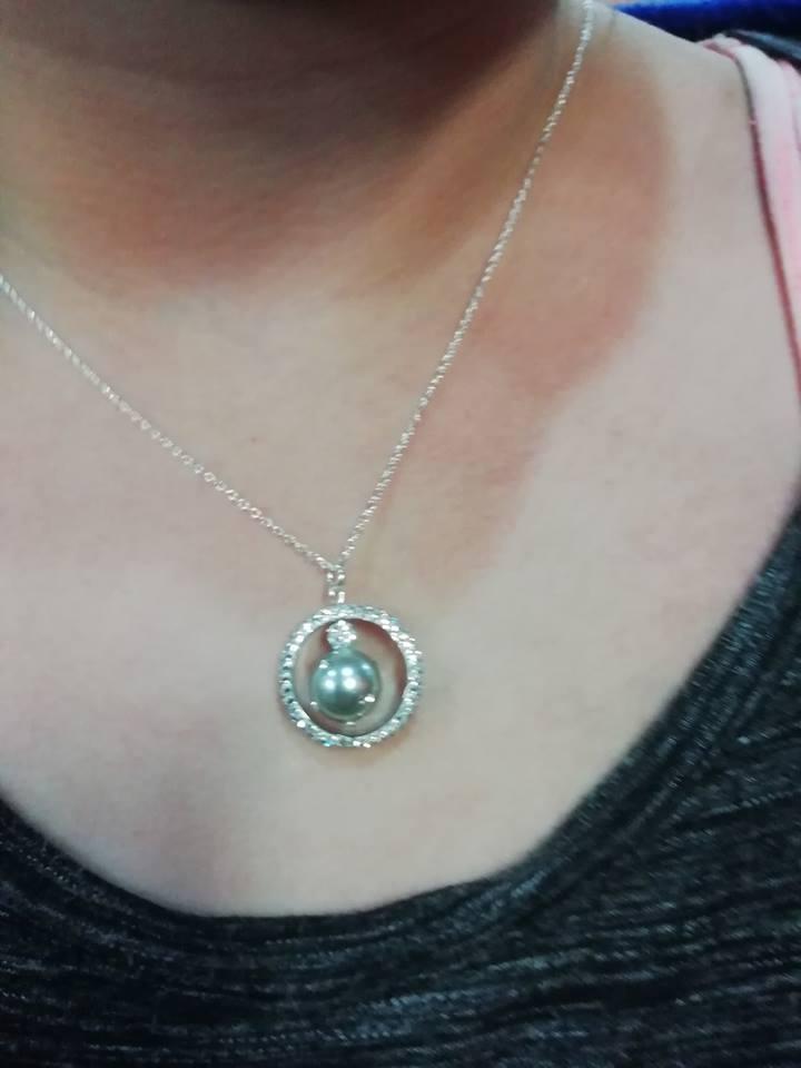 Anneau perle eclats 1